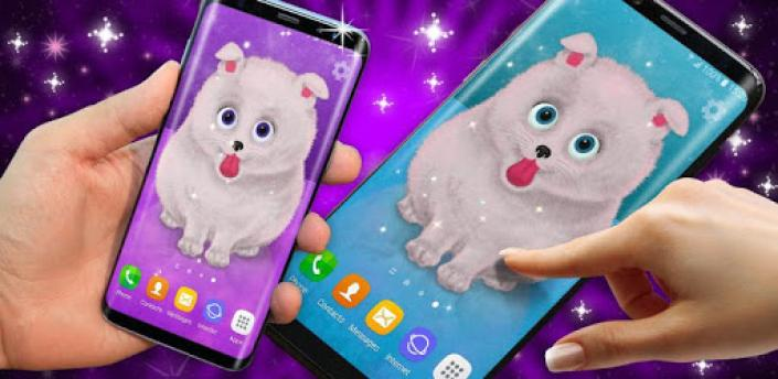 Cute Puppy Live Wallpaper 🐶 Pomeranian Wallpapers apk