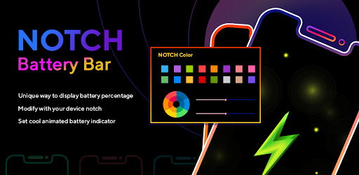 Energy Notch Battery Bar & Battery Indicator Pro apk
