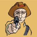 Cowboy Shoot -western criminal Icon