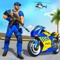 US Police Bike Gangster Chase Crime Shooting Games Icon