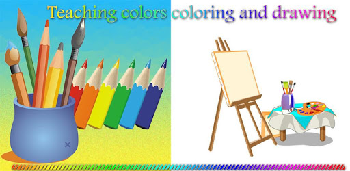 Teaching colors, coloring and drawing apk