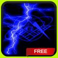 Blue Lightning Freemason Live Wallpaper Theme LWP Icon