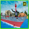 Animal Transport Cargo Ship Icon