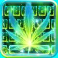 Neon Smoking Weed Keyboard Theme Icon