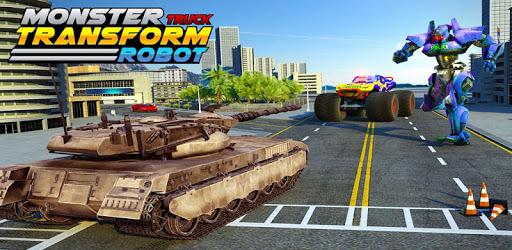 US Police Monster Truck Transform Robot War Games apk