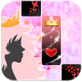 Girly Piano Tiles - Princess, Roses n Fairytale Icon