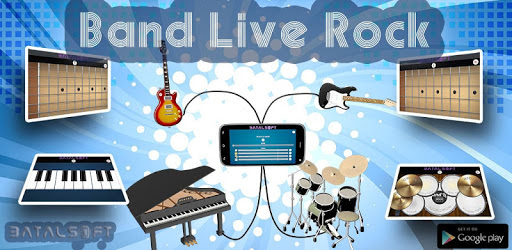 Band Live Rock 🎵 drum, bass, guitar, piano, mic apk