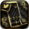 Gold Black Launcher Theme Icon