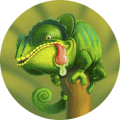 Tong the chameleon Icon