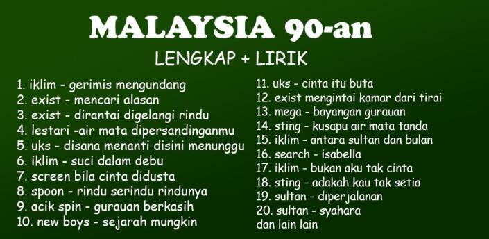 Malaysia 90-an Lengkap offline apk