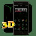 3D Ripple Cool Neon Green Launcher Wallpaper Theme Icon