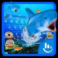 3D Ocean Shark Keyboard Theme Icon