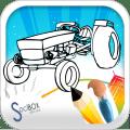 tractor coloring book Icon