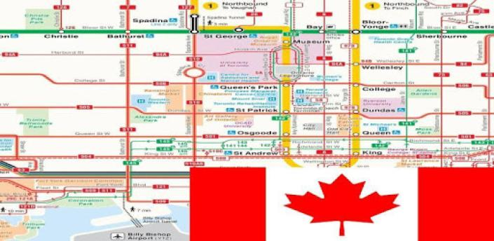 TORONTO SUBWAY STREETCAR NIGHT BUS MAP TTC トロント多伦多 apk