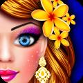 Flower Doll Fashion Show Salon Dress Up Game Icon