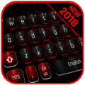 Classic Black Red Keyboard Icon