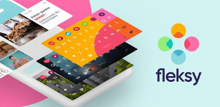 Fleksy Ergonomic Keyboard 2020 -Emoji Keyboard GIF apk