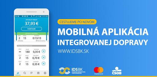 IDS BK - cestovné lístky a vyhľadávač spojení apk