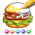 Food Coloring Game - Learn Colors Icon