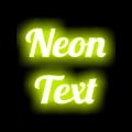 Neon Text On Photo Icon