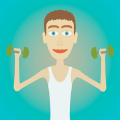 Muscle clicker: Gym game Icon