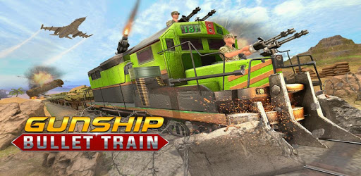 US Army Train Gunship Attack : Train Driving Games apk