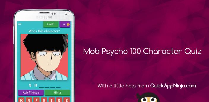 Mob Psycho 100 Character Quiz apk