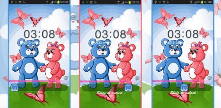 Theme Teddy Bears GO Locker apk