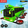 Flying Bus Army Robot Hero : Robot Games Icon