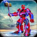 US Police Hammer Robot Fighting Robot War Game Icon