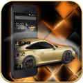 Gold Luxury Car Launcher Icon