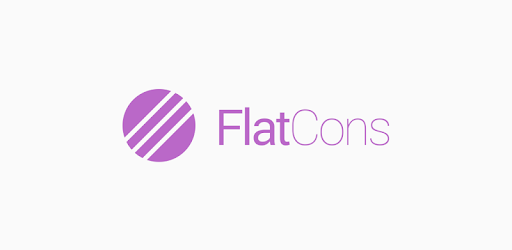FlatCons Purple Icon Pack apk