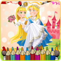 Prince and Princess Coloring Icon