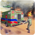 US Army Ambulance Rescue Game. Icon