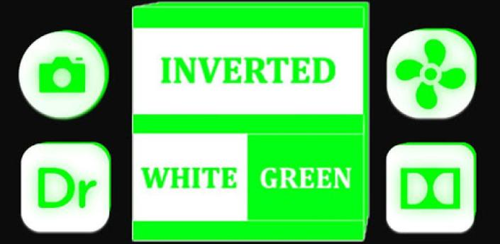 Inverted White and Green Icon Pack Free apk