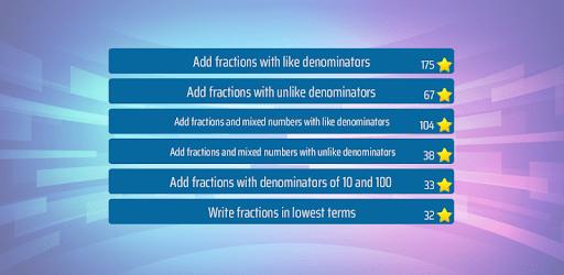 Adding Fractions Math Game apk