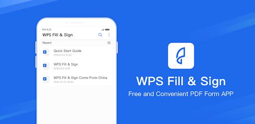 WPS PDF Fill & Sign - Fill & Sign on PDF apk