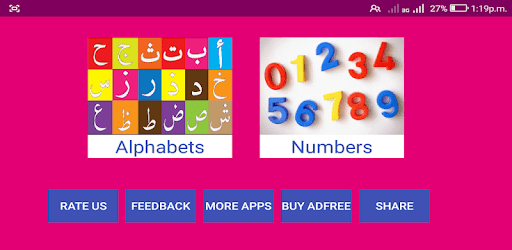 Learn Arabic Alphabets and Numbers apk