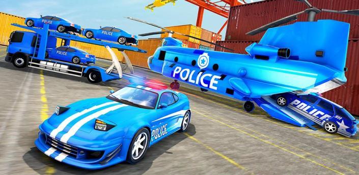 Police Car Transporter Truck 2019 apk