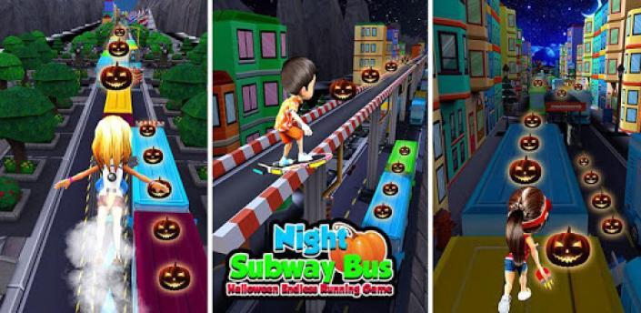 Night Princess Runner Subway Bus: Endless Running apk