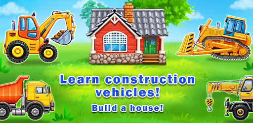 Truck games for kids - build a house, car wash apk