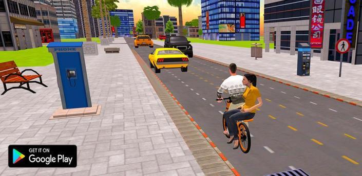BMX Bicycle Taxi Driving: City Transport apk