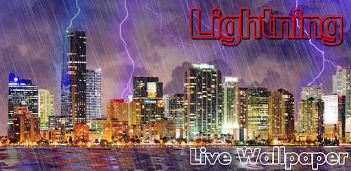 Lightning, Thunderstorm HD LWP apk