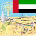 Dubai Metro, Train, Bus, Tour Map Offline Icon