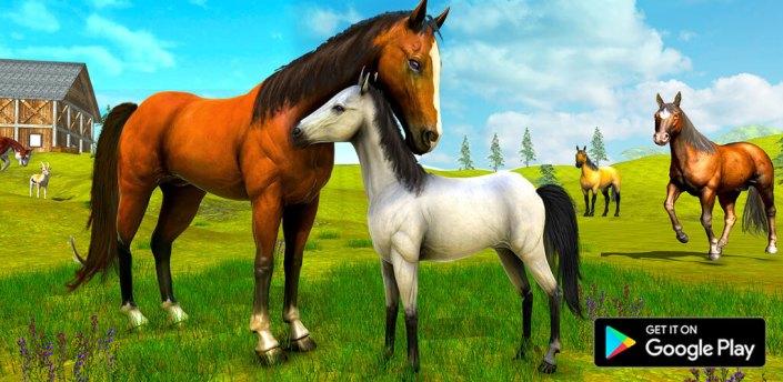 Wild Horse Family Simulator : Horse Games apk