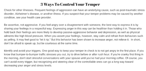 HOW TO CONTROL ANGER apk