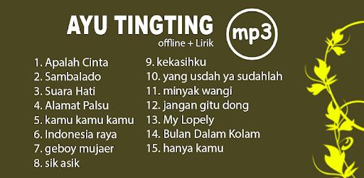 AYU TING TING Lengkap lagu offline beserta lirik apk