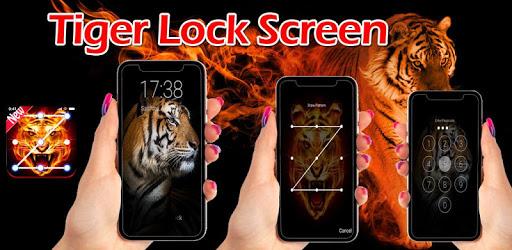 Tiger Lock Screen Tiger Pattern Passcode Keypad apk