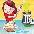 Big City and Home Cleanup – Girls Cleaning Fun Icon