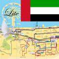 Dubai Metro Bus Map Offline Lite メトロオフライン路線図 Icon